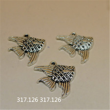 15X Tibetan Silver fish Charms Pendant Craft Findings Jewelry Wholesale GU1002