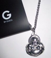 MENS G BY GUESS BUDDHA PENDANT CHAIN NECKLACE