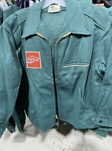 New  Coca Cola Green Coke Delivery Driver Jacket Coat Vintage lined. Size Xl