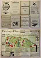 Plan des Zoologischen Gartens Dresden um 1920 Sachsen Ortskunde Tierpark xz