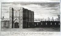 SUFFOLK BURY ST EDMUNDS ABBEY   Original  Antique Copper Engraved Print 1759