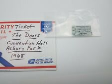 The Doors August 31, 1968 Convention Hall Asbury Park,Nj Ticket Stub
