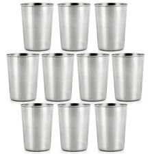 10pcs High Quality stainless steel shot glasses Beer Wine Glass 350ML Set Of 10