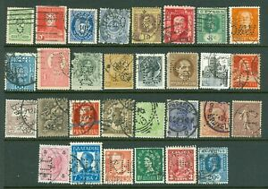2) World - Thirty (30) Perfin Stamps from Thirty Different Countries