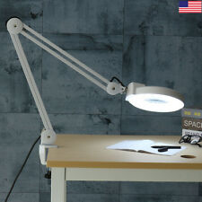 Swing Arm Magnifying Desk Clamp Work Bench Light Lamp Nail Art Stamp Jewellery
