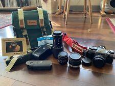 Canon AE-1 35mm Film Camera - FULL KIT - No Reserve