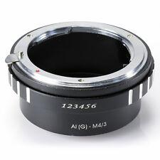 Nikon G AF-S AI Mount Lens to Micro 4/3 M4/3 M43 G1 G2 GH1 GF1 E-P1 E-P2 Adapter