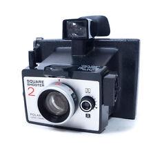"Vintage Polaroid Black Square Shooter 2 Land Camera w/ Box & Manual 6"" x 5.50"""