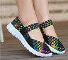 Women Woven Shoes Slip On Elastic Flat Shoes Summer Breathable Casual Sandals
