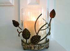 Shabby Chic candle holder, beautiful metal woodland design, rustic
