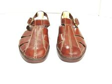 Cole Haan Country Men's Size 11 D US Brown Leather Fisherman Buckle Sandals