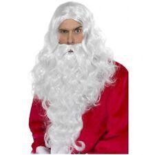 Long White Santa Claus Wig & Beard Moses Fancy Dress Christmas Costume Accessory