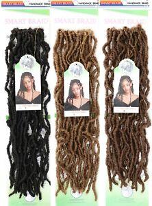 "18"" Curly Faux Locs Crochet Braids Hair Extensions Dreadlocks by Smart Braid"
