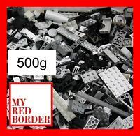 Lego 500g Mixed Black light Dark Grey Bricks Plates Parts Pieces Bundle JobLot
