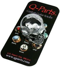Q-Parts JUMBO SKULL Custom Guitar Knob CHROME KCJSI0404