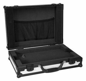 """Roadinger Laptop Case LC-17BLW Notebook Koffer 17"""" Notebooktasche Schwarz Weiß"""
