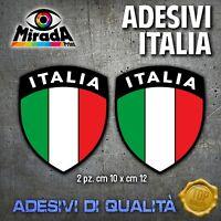 Adesivi Stickers SCUDETTO ITALIA ITALY FLAG BANDIERA MOTO AUTO nero 2 PZ. TOP