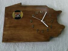Pittsburgh Pirates, Pennsylvania state wood quartz wall clock with team logo