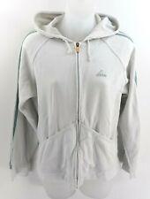 ADIDAS Womens Hoodie Jacket 12 White Cotton & Polyester