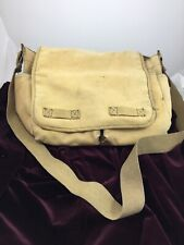 Distressed Faded Rugged Messenger Shoulder Bag Flap Front Large Adjustable Strap