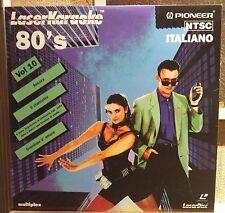 Laser Karaoke Pioneer Italiano 80's Vol. 10 NM De Crescenzo/Zucchero/Arbore