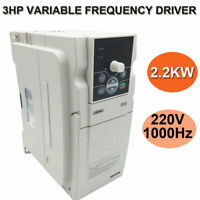 2.2KW 3HP VFD Driver Inverter 220V 3phase 10A 1000Hz for CNC Router Mill Machine