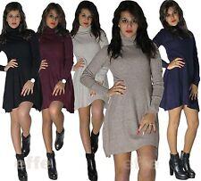 Maxipull miniabito  donna vestito maxi maglia abito maglione pullover sexy  8111