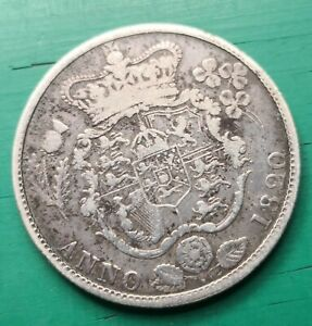 1820 George IV 925 silver half crown coin #380