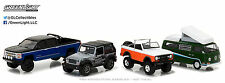 1:64 GreenLight *ROUCKY MOUNTAIN TRAIL CLIMBER* 4pc SET VW Silverado Jeep Bronco