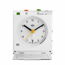 Braun White Classic Motion Analog Quartz Alarm Clock BNC005WHWH