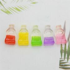 20 pcs Multicolors Mini Resin Drink Bottles Embellishments Slime Charm 18x10mm