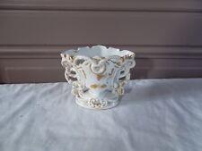 Petit vase décor de cheminée Louis Philippe faience