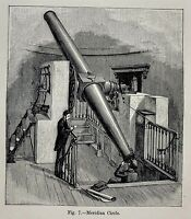 1897 Astronomy Print - Meridian Circle Telescope Star Tracking Paris Observatory