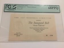 1967 Governor RONALD REAGAN INAUGURATION The Inaugural Ball Ticket PCGS 68PPQ