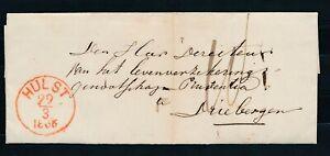 ROOD RONDST.HULST 29/3 1866 OP BRIEF-DRIEBERGEN,AZ.ROOD TAKJE AS.(SCHAARS  ZL806