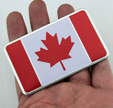 Auto Car Alloy Performance Badge Emblems Decals For Canada Maple Leaf Flag NEW