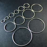GENUINE 925 Sterling Silver Simple Plain Circle Hoop Huggie Earring UK New