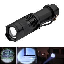 Mini Black Cree SK68 Q5 3W 250 Lumens Zoom 3-Mode Led Flashlight Torch