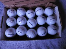 P 15 Pinnacle Rush white golf balls.