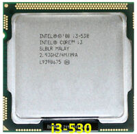 Intel Core i3-530 CPU Dual-Core 2.93GHz / 4MB LGA1156 SLBLR Processor