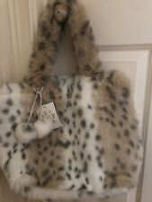 1f5ccc73ff Pottery Barn Teen Snow Leopard Pom Pom Tote Bag Purse New With Tags