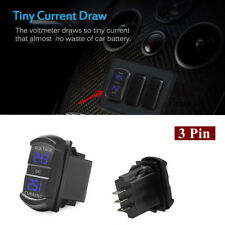 Digital Multimeter Amp Voltage Meter 2-in-1 Current ATV Car Camper LED Blue