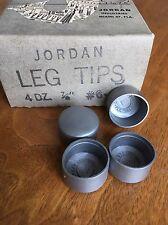 "VINTAGE 1940 NEW OLD STOCK Set Of 4 Jordan #6 Leg Furniture Leg Tips 7/8"""