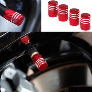 4x Anodized Aluminum Car Tire Tyre Air Valve Stem Screw Caps Cover Accessories