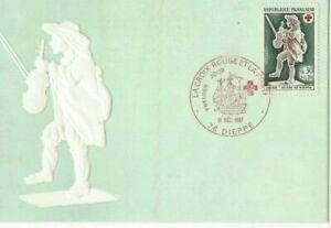 Card Postal CEF 1er Day France La Cross Red 1967