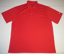 Mens Nike Fit Dry Short Sleeve Ss Golf Polo Shirt Xl Xlarge Red Tennis Solid