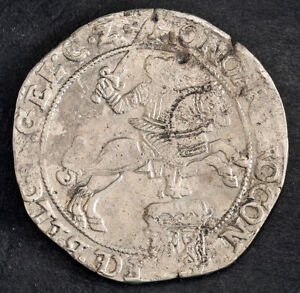 """1677, Netherlands, Gelderland. """"Silver Rider"""" Ducaton (60 Stuiver) Coin. F-VF!"""
