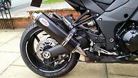 Kawasaki Z1000 + SX 2010-2019 Stainless Black round ROAD.LEGAL Motorbike Exhaust