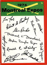 1974 Topps Team Checklists Montreal Expos POOR #D343291