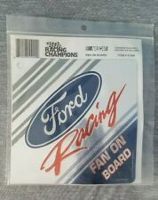 Ford Racing Fan On Board - Suction Cup Vinyl Window Sign - Nascar